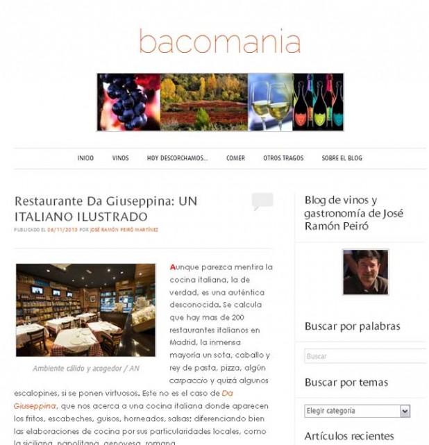 Da Giuseppina en Bacomania.com